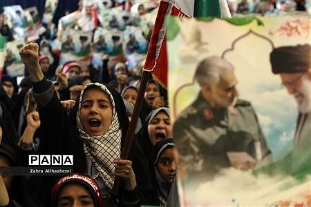 گردهمایی 30 هزار نفری نسل سلیمانی در مصلی تهران |