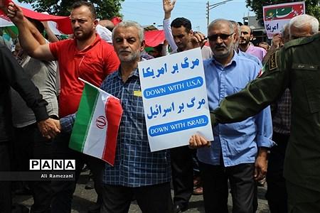 راهپیمایی روز قدس در قائمشهر |