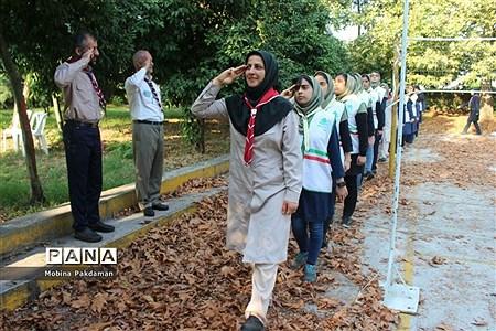 صبحگاه پیش اردوی پیشتازان دختر سازمان دانشآموزی مازندران |