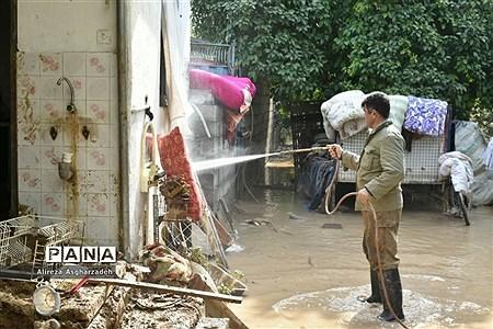 وضعیت مردم سیلزده در روستاهای دستنکلاه و تالارپشت سیمرغ |