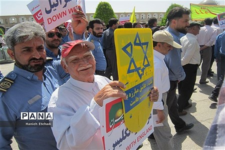 حضور پرشور مردم اصفهان در راهپیمایی روز قدس |