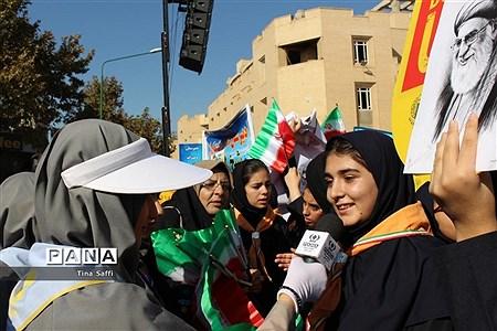 حضور مردم شریف اصفهان در راهپیمایی یوم الله 13 آبان |