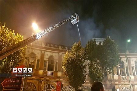 آتش سوزی در میدان حسن آباد تهران |