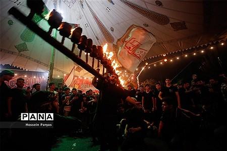 آیین مشعلگردانی در دولتآباد تهران |