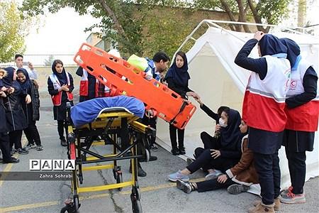 بیست و یکمین مانور سراسری زلزله درشهرستان اسلامشهر |