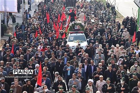 تشیع پیکر سرباز شهید امنیت درشهرستان قرچک |