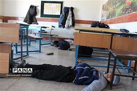 مانور پدافند غیرعامل در شهرستان بهارستان |