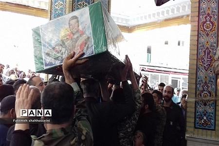 مراسم استقبال از پیکر شهید مدافع حرم در شهرستان فیروزکوه |