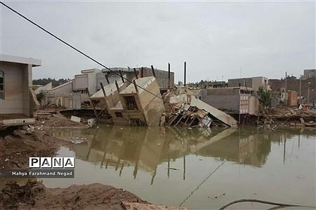 منازل تخریبشده در سیل پلدختر استان لرستان |