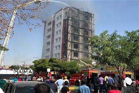 آتش سوزی برج اداری و تجاری آراکس مشهد |