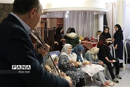 دیدار از سالمندان در یلدای مهربانی |