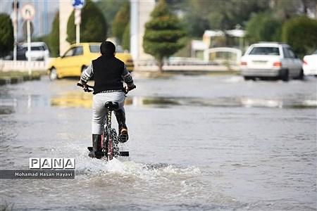 خیابانهای آبادان در محاصره آب گرفتگی |