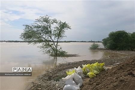 طغیان رودخانه کارون در بخش اسماعیلیه اهواز |