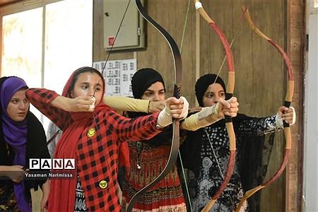 مسابقات تیرانداز ی با کمان سنتی قهرمانی استان خوزستان در امیدیه |