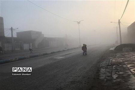 مه گرفتگی در شهرستان کارون |