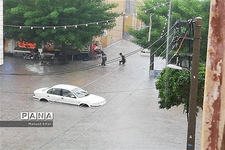 بارندگی شدید امروز در بوشهر |
