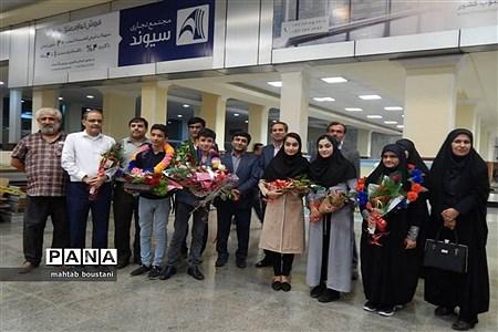 استقبال از دانشآموزان برگزیده استان بوشهر در جشنواره نوجوان خوارزمی مرحله کشوری |