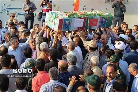 تشییع پیکر مطهر شهید غلامرضا سلیمی در بوشهر |