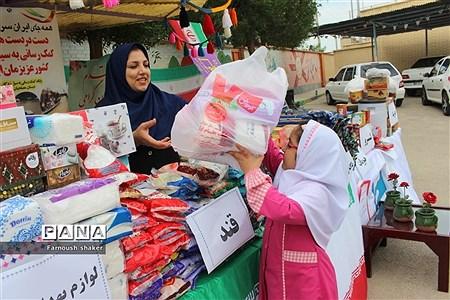 مدرسه مصلحیان شهرستان بوشهر کمک به سیل زدگان |