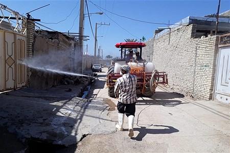 ضدعفونی وگندزدایی روستای شبیشه شهرستان حمیدیه    AliSoltany