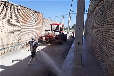 ضدعفونی وگندزدایی روستای شبیشه شهرستان حمیدیه  | AliSoltany