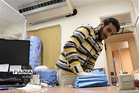 راهاندازی کارگاه تولید ماسک در قرارگاه شهید دکتر قاسمی قم |