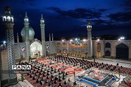 مراسم ترتیل خوانی قرآن کریم در حرم حضرت احمد بن هلال بن علی |