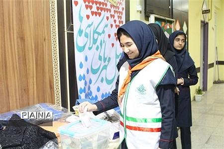 اجرای طرح دومین سیل مهربانی همکلاسی ها درمدرسه ریحانة النبی همدان |