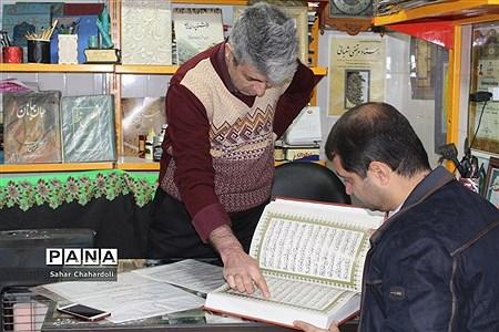 بازدید رئیس سازمان دانش آموزی استان از آتلیه خوشنویسی استاد مرتضی شعبانی |