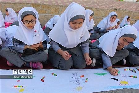 حضور کاروان شادی کانون پرورش فکری کودکان و نوجوانان استان همدان در مدرسه شاهد اخوان |