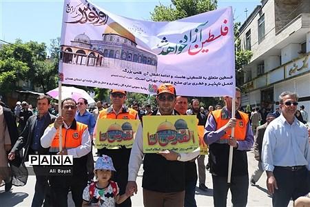 راهپیمایی مردم همدان در آخرین جمعه ماه رمضان |