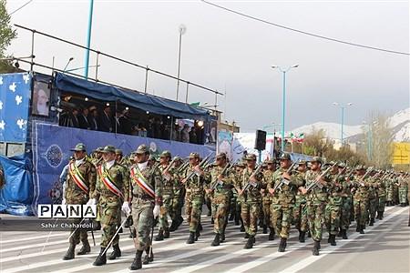 رژه نیروهای مسلح در همدان |
