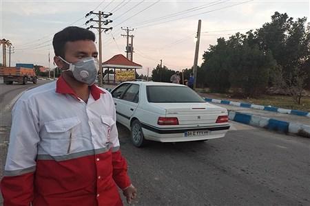 کنترل و غربالگری  بیماری (کرونا ویروس )ورودی وخروجی شهرستان امیدیه  | Narges  Heydery