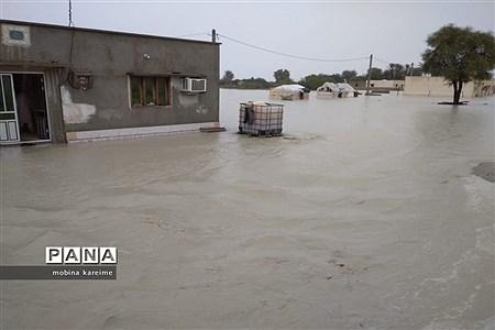 خسارت سنگین سیلاب به جنوب سیستان و بلوچستان |