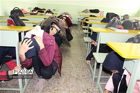 مراسم متمرکز استانی بیست و یکمین مانور زلزله و ایمنی در مدارس |