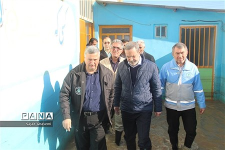 بازدید وزیر آموزش و پرورش از مدارس سیل زده استان گلستان  