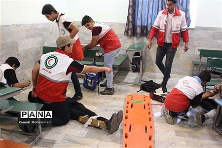 بیست و یکمین مانور سراسری زلزله و ایمنی در دبیرستان سید مرتضی محلات |