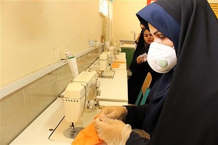 تولید روزانه 250ماسک در هنرستانهای علوم و هاجر ناحیه 3 اهواز  | Mohamad Shahrokh Nasab