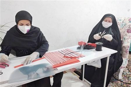 کارگاه تولید طلق (شیلد) خیریه ندای کرار به کادر درمان  شهرستان امیدیه  | Narges    Heydery