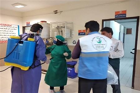کارگاه تولید طلق (شیلد) خیریه ندای کرّار به کادر درمان  شهرستان امیدیه  |