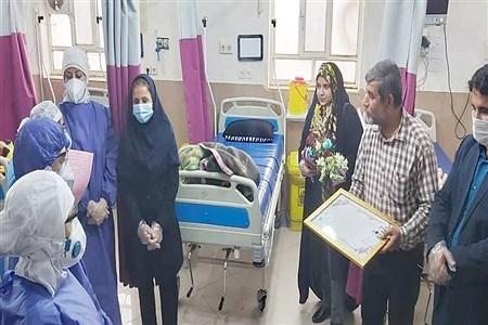 تقدیر از مدافعان سلامت بیمارستان امام رضا شهرستان امیدیه  |