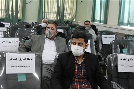 تقدیر ازمدیران ومعلمان نمونه شهرستان حمیدیه باحفظ رعایت  فاصله اجتماعی | Salimeh Torfi