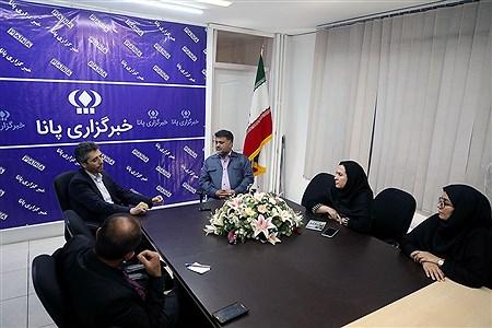 بازدید جمعی از مسئولین ذوب آهن اصفهان از خبرگزاری پانا   Bahman Sadeghi