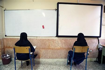 برگزاری امتحانات نهایی دبیرستان دوره اول خسرو خاور | Zahra Alihashemi