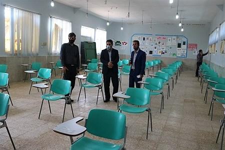 بازدید  مدیریت آموزش و پرورش از حوزه های امتحانات نهایی دوازدهم شهرستان امیدیه |