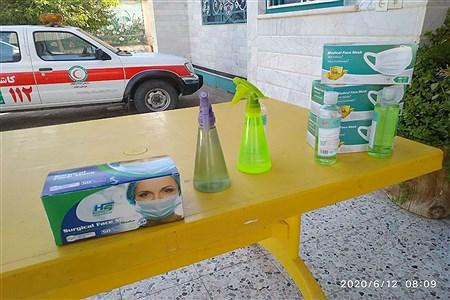 توزیع اقلام بهداشتی در ورودیه پنجمین دوره انتخابات مجمع عمومی جمعیت هلال احمر  کاشمر | MojtabaSahebzamani