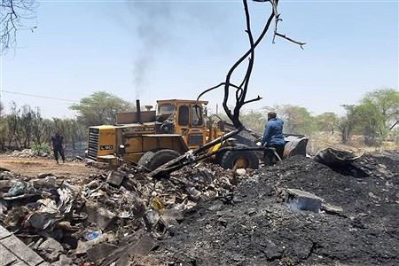 آتش سوزی گسترده  در انبار ضایعات پلاستیکی منطقه ملاشیه اهواز  | Kowsar Karimi