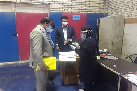 برگزاری امتحانات نهایی دوازدهم متوسطه دخترانه درسالن ورزشی  حجاب شهرستان حمیدیه | Kazem Mazraeh