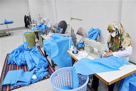 تولید ماسک و گان در کارگاههای زنجان | Arian Bahmani