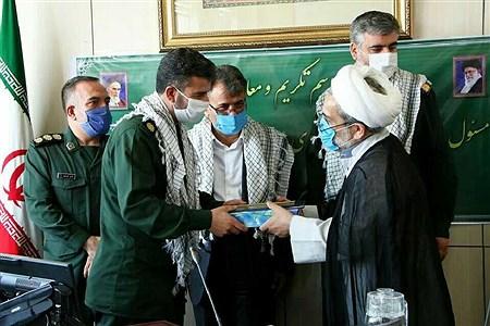 تجلیل از رضا ابراهیمی و معارفه محمد سرباز به عنوان رئیس بسیج دانش آموزی استان قزوین | mohsen hoseinkhani